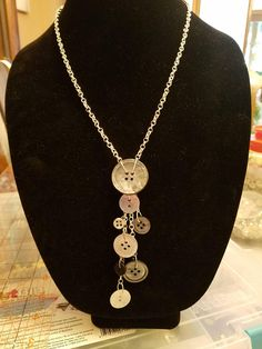 Check out this item in my Etsy shop https://www.etsy.com/listing/565505843/vintage-button-necklace