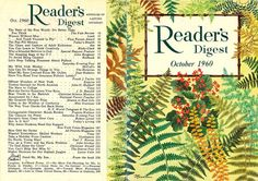 Reader's Digest front and back cover, October 1960  Illustration by: Rebecca Merrilees