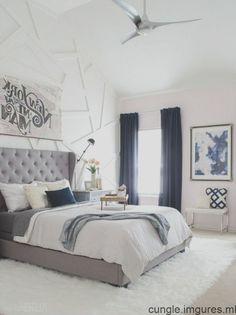 37 Amazing Navy Master Bedroom Decor Ideas - Home decor - Bedding Master Bedroom Navy Master Bedroom, Navy Blue Bedrooms, Warm Bedroom, Neutral Bedrooms, Woman Bedroom, Master Bedroom Design, Bedroom Décor, Bedroom Beach, Bedroom Curtains