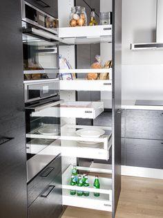 Ideal Keittiöt Oy - Keittiön lisävarusteet helpottamaan arkea French Door Refrigerator, French Doors, Kitchen Appliances, Home, Diy Kitchen Appliances, Home Appliances, Ad Home, Homes, Kitchen Gadgets