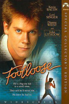 """FOOTLOOSE (1984). Combina baile, comedia y una historia de amor. Es la historia de un chico que llega a un pueblo en el que el Shaw Moore ha prohibido el baile. El joven, que además de rebelde es un entusiasta de la música, intentará por todos los medios acabar con esa prohibición, mientras se enamora de la hija de Moore. Sirvió para el lanzamiento de Kevin Bacon en su primer papel protagonista y aprovechó el renombre de Lori Singer gracias a su presencia en la serie """"Fama"""" para dar la…"""