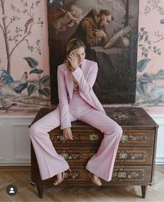Suit Supply, Hand Painted Wallpaper, Pink Suit, Bridal Headpieces, Dream Team, Bridal Style, Pretty In Pink, Bridal Dresses, Wedding Inspiration