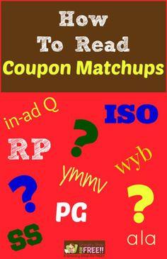 How To Read Coupon Matchups