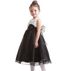 Lovely Black And White Girl's #Dress