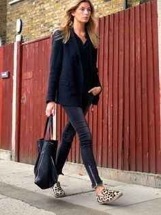 black, leopard & zippers #fashion #style
