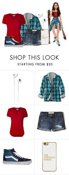 """""""Alicia Clark (Fear The Walking Dead)"""" by princessmikyrah ❤ liked on Polyvore featuring Apple, L.L.Bean, MICHAEL Michael Kors, Hollister Co., Vans and BaubleBar"""