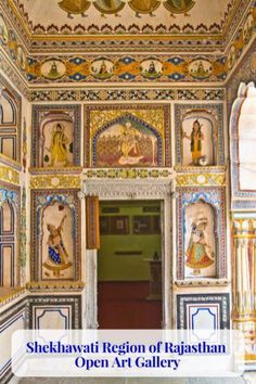 Shekhawati region of Rajasthan is a lesser known part. This area is an open art gallery with beautiful Frescoes and intricate hand crafted windows & doors. India Travel Guide, Asia Travel, World Cities, Best Cities, Travel General, States Of India, Open Art, Mural Painting, Paintings