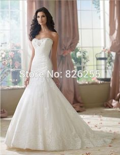 >> Click to Buy << Love Story 2015 Fashion Beaded Appliques Mermaid Wedding Dresses/Bridal Gowns NW0149 Free Shipping Custom Color/Size #Affiliate