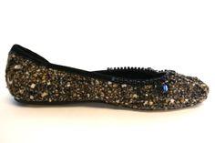 BCBG Max Azria Charleen Tweed Flats Sz 7 FABULOUS !!NEW $250 #BCBGMAXAZRIA #BalletFlats