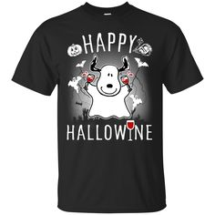 Snoopy T shirt Happy Hallowine T shirt hoodie sweatshirts