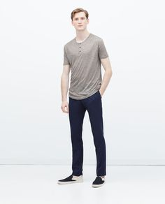 Image 1 of BUTTON NECK SWEATER from Zara
