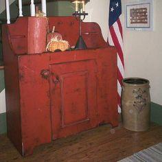 Pioneer Dry Sink  Handmade to Order  Red on Black by ShakaStudios, $846.00