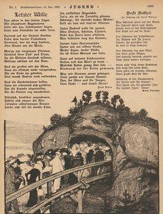 Jugend Zeitschrift Nr. 1, 1900