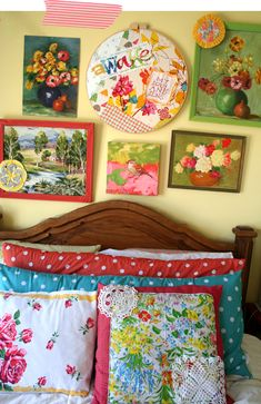 Awake my soul and sing!                               Use a giant hoop for a quilted art piece.