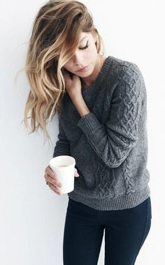 A perfectly simple winter outfit.