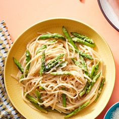 Lemon-Chile Linguine with Asparagus Recipe by Rachael Ray Pasta Recipes, Dinner Recipes, Cooking Recipes, Dinner Ideas, Italian Dishes, Italian Recipes, Italian Meals, Allergy Free Recipes, Vegetarian Recipes