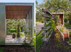 Functional living fence garden--I just love the vertical gardens for when space is a premium...