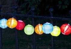 Smart Garden 10 Solar Chinese Lantern String Lights