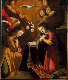 """Josefa d`Óbidos, """"Anunciação"""" (1676, MNAA)."""