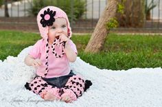 The Serene Spring Set, 6 pieces hat, flowers, legwarmers for baby or toddler on Etsy, $125.00