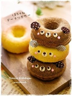 Bear doughnuts ♥ Dessert--- why does everything from Japan have to be so kawaii?!?