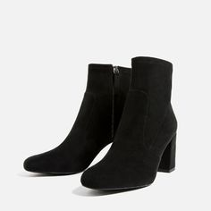 Image 3 of ELASTIC HIGH HEEL ANKLE BOOTS from Zara