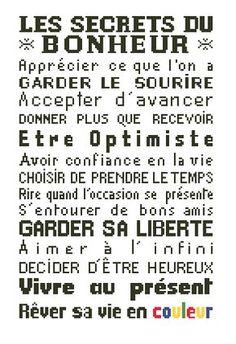 """Affiche """"Les secrets du bonheur"""""""
