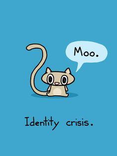 Identity Crisis Cat Art Print by bikeparts on Etsy, $15.00