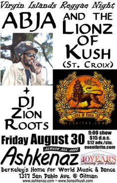 Abja  The Lionz of Kush live at Ashkenaz, Berkeley, CA 8/30/13