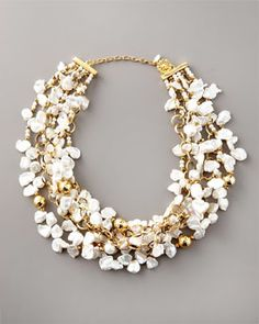 Jose & Maria Barrera  Keshi Pearl Necklace