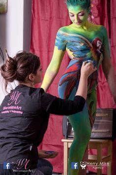 """Body painter: Weronique Art """"Il volo"""""""