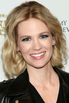 Taylor Swift Blonde Long Hairstyles January-Jones-Curly-
