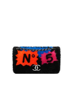 Patchwork shearling flap bag - CHANEL