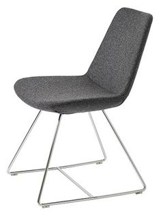 Pera Wire Base Wool Side Chair with Price : $ 319.99