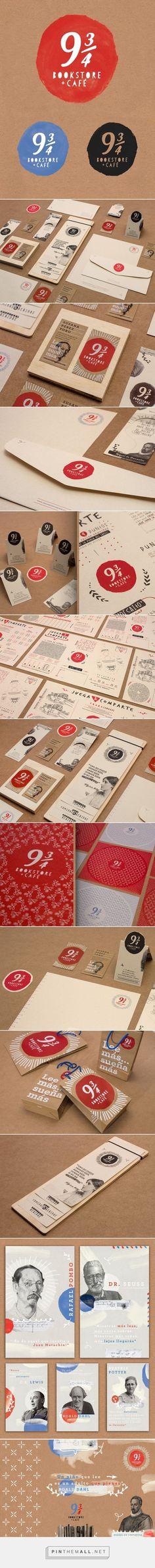 Branding | Graphic Design | 9 3/4 BOOKSTORE and CAF� Branding on Behance.