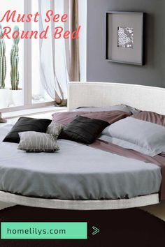 14 Modern Round Beds For Your Home in 2020 You can Buy Now Home Decor Sites, Diy Home Decor, Circle Bed, Bedroom Furniture, Bedroom Decor, Home Organization Hacks, Organizing, Round Beds, Beautiful Home Designs