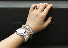 Plan B anna evers DIY White Hama beads watch