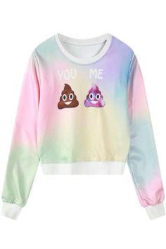 Colorful Poop Print Sweater
