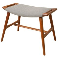 Hans Wegner Piano Stool | From a unique collection of antique and modern stools at http://www.1stdibs.com/furniture/seating/stools/.