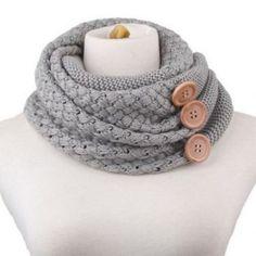 NWOT Chic big buttons embellished scarf NWOT Chic big buttons embellished knitted neck warmer Accessories Scarves & Wraps