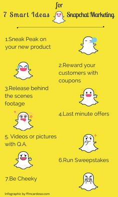 7 fabulosas ideas de Marketing con la ayuda de #Snapchat