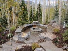 39 stone outdoor fire pit ideas, stone fire pit and fire