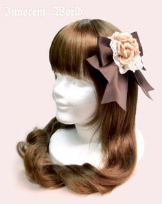 Lolibrary | Innocent World - Hair accessories - Triple Rose Ribbon Clip (2015)