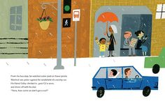 Reading Last Stop on Market Street by Matt de la Pena with illustrations by Christian Robinson, Out Loud Kids Story Books, Stories For Kids, Picture Book Maker, Picture Books, Penguin Awareness Day, Kitty Crowther, Christian Robinson, City Illustration, Chapter Books