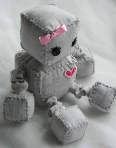 love this stuffed robot for a robot nursery, minus the bow of course