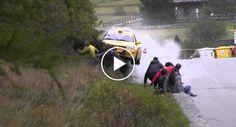 Incrível Como Todos Sobreviveram a Este Acidente De Rally!!!