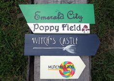 The Wizard Of Oz Decoration, The Wizard of Oz Decor, The Wizard Of Oz Signs, Halloween Decorations, Yard Art on Etsy, $82.00