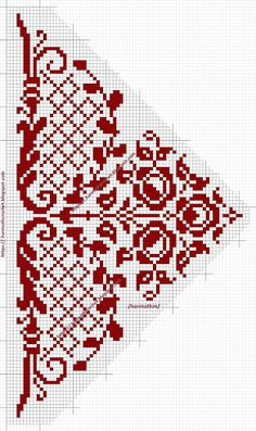 Cross Stitch Bird, Cross Stitch Borders, Cross Stitch Flowers, Cross Stitching, Cross Stitch Embroidery, Cross Stitch Patterns, Graph Design, Chart Design, Tatting Patterns