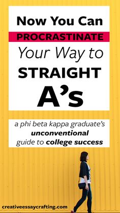 Tired of posts about cookie-cutter straight A students?   Get the real strategy of a UC Berkeley phi beta kappa graduate (that's latin for the most badass).   Procrastinate AND get straight A's by procrastinating WELL. This awesome strategy is going to blow your mind.  Perfect for any student.