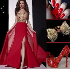 Be the prom queen at party with the dress! Stunning #PromDress #Ring #Shoes #Fashion #FreshFashion